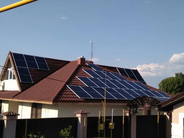 Монтаж, установка под ключ солнечных панелей, станций любой сложности