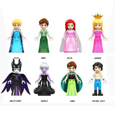 Ludziki figurki ELSA Ania ariel aurora 8 szt.lego