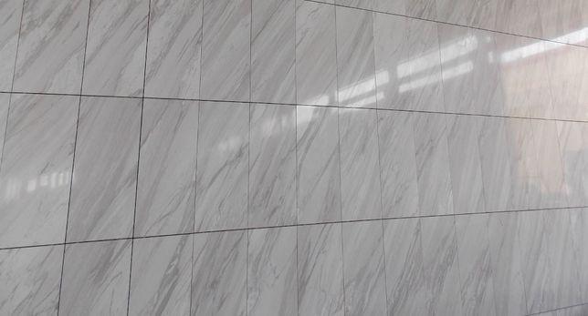 Duże płytki 120x40 marmurowe Volakas Carrara naturalny kamień MARMUR !