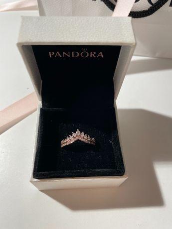 Pierścionek Pandora wishbone dla księżniczki rose gold różowe złoto 15