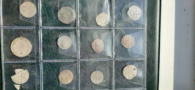 Монети 12 шт.серебро Польша
