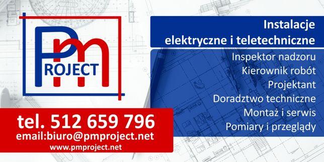 Projektowanie instalacji elektrycznych, projekt - AutoCad