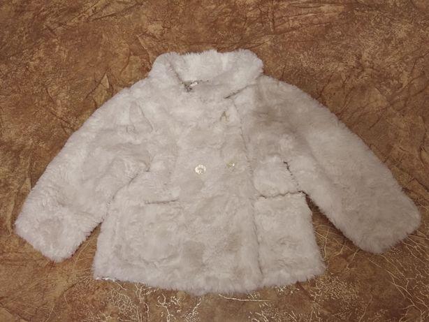 Куртка курточка шубка зефирка 12-18м 80см