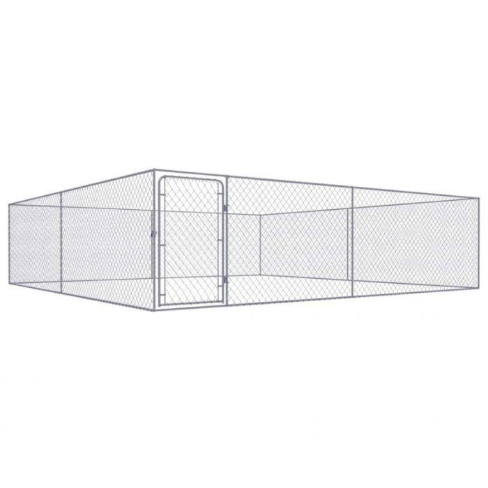 Canil de exterior em aço galvanizado 4x4x1 m NOVO (Varios tamanhos) Guarda - imagem 1