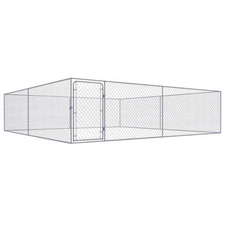 Canil de exterior em aço galvanizado 4x4x1 m NOVO (Varios tamanhos)