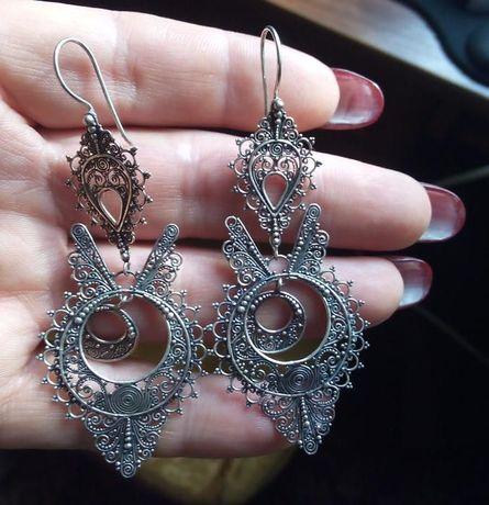 kolczyki - srebro 925 - orientalne