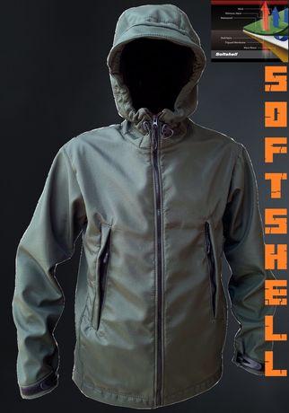Тактическая куртка военная одежда SoftShell Софтшел мужская на флисе