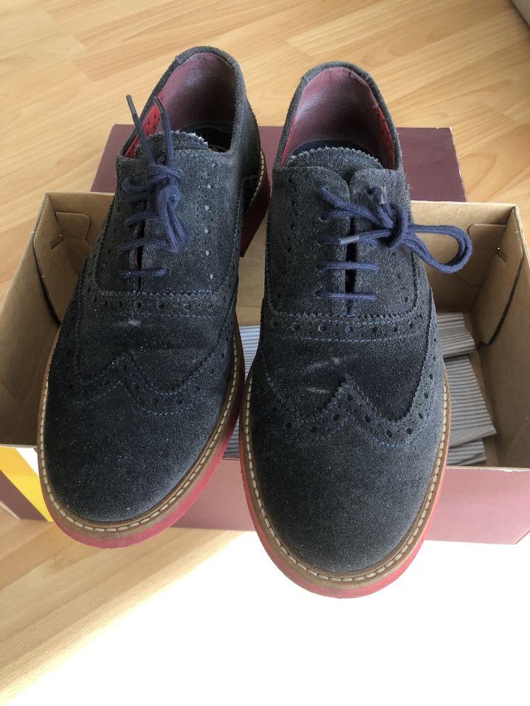 Sapatos camurça azuis El Ganso