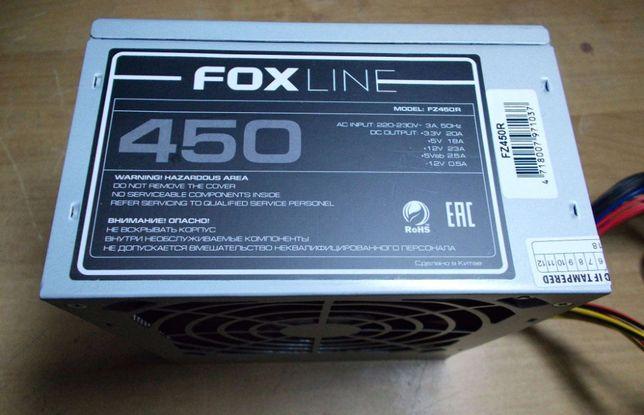 НОВЫЙ с ГАРАНТИЕЙ блок питания 450W Foxline FZ450R за 1600 руб