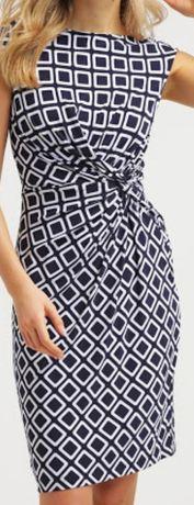 Ralph Lauren - ekskluzywna sukienka z geometrycznym wzorem - L
