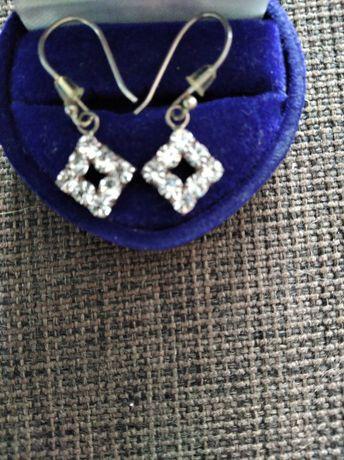 Kolczyki srebrne z cyrkoniami ślub