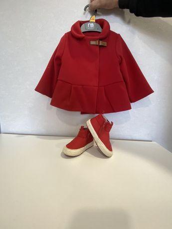 Пальто для девочки и ботиночки