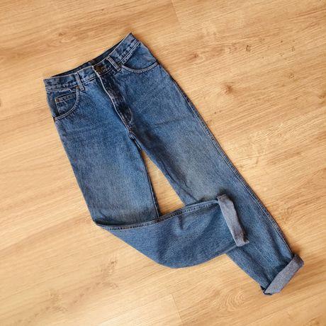 Mom fit jeans wysoki stan Vintage jeans spodnie dżinsowe high waist