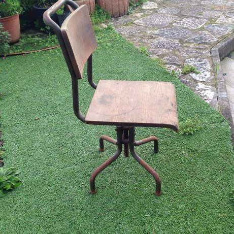 cadeira ferro vintage/industrial
