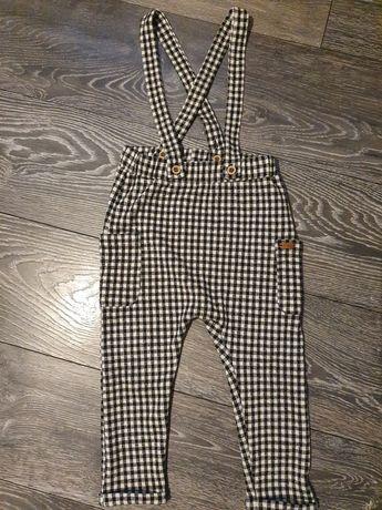 Spodnie z szelkami reserved rozm 98