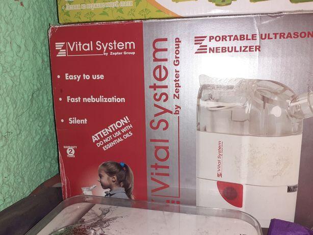 Портативный ингалятор небулайзер vital system by zepter
