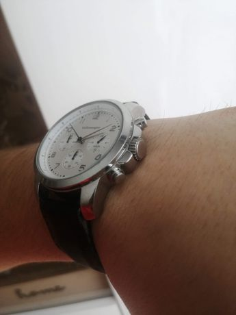 Oryginalny męski zegarek pasek skóra Volkswagen