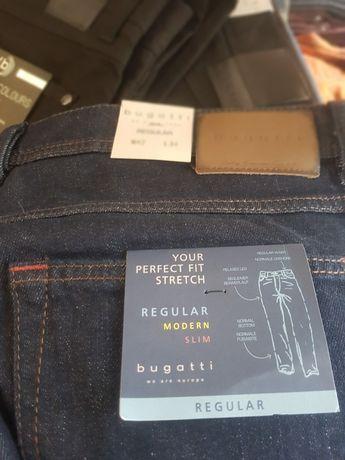 Bugatti Nowe spodnie męskie jeans 42/34