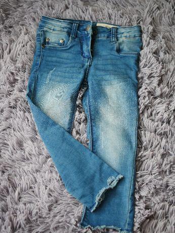Spodnie jeansowe dla dziewczynki r 98 lupilu skinny fit