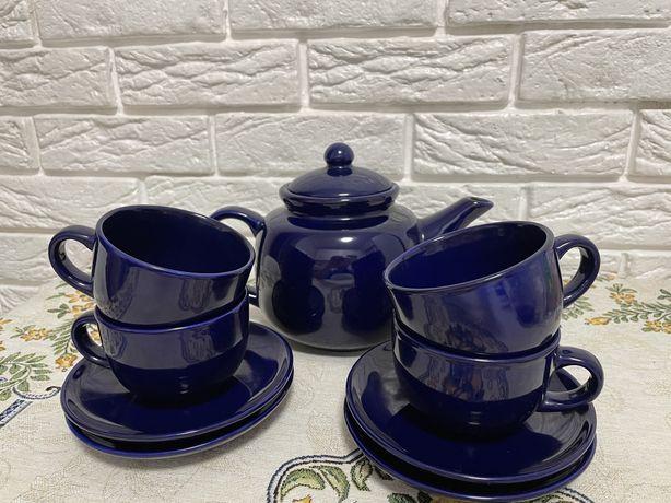Чайный сервиз на 4 персоны, керамика