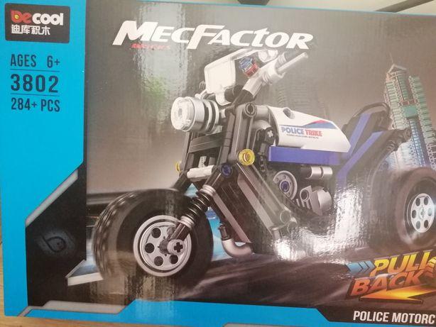 Полицейский мотоцикл decool (конструктор под lego)