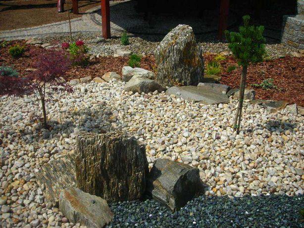 Żwir Kwarcowy biały kamień kora kamienna kostka granitowa brukowa grys