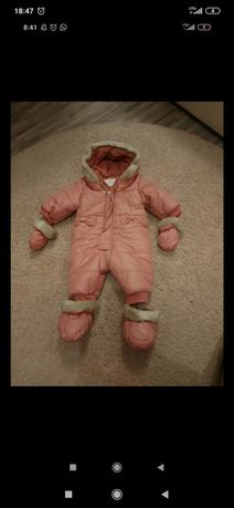 Kombinezon dla niemowlaka 62 cieply zimowy
