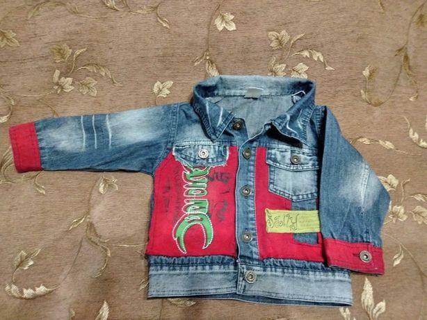 Джинсовая курточка на 2 года б/у