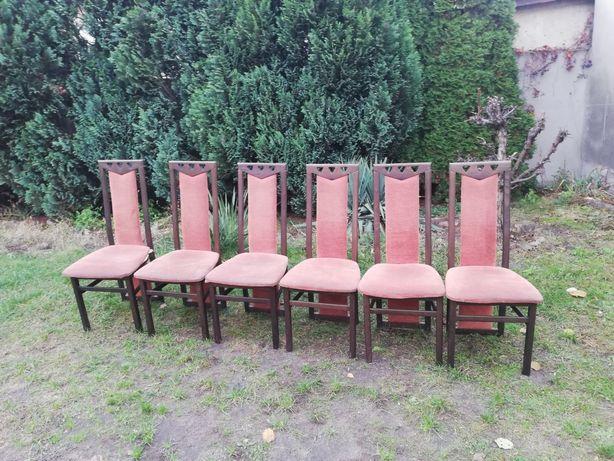 Krzesła tapicerowane Komplet 6szt.