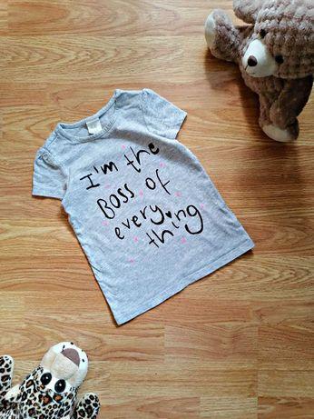 Детская крутая брендовая футболка - туника для девочки h&m - 1-2 г