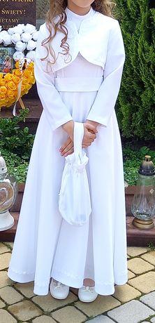 Sukienka alba do komuni134 cały zestaw buty rozm  35