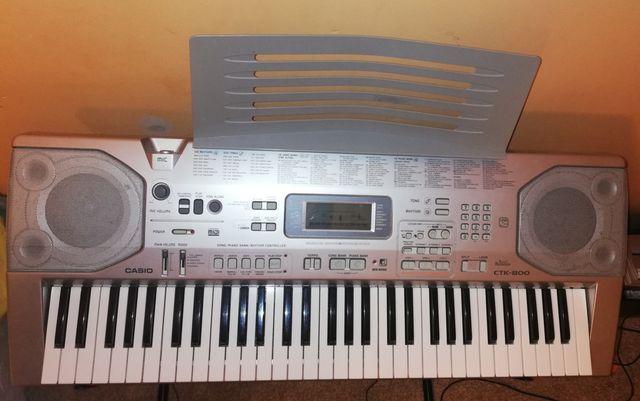 Casio CTK-800. Keyboard. Pianino elektryczne.