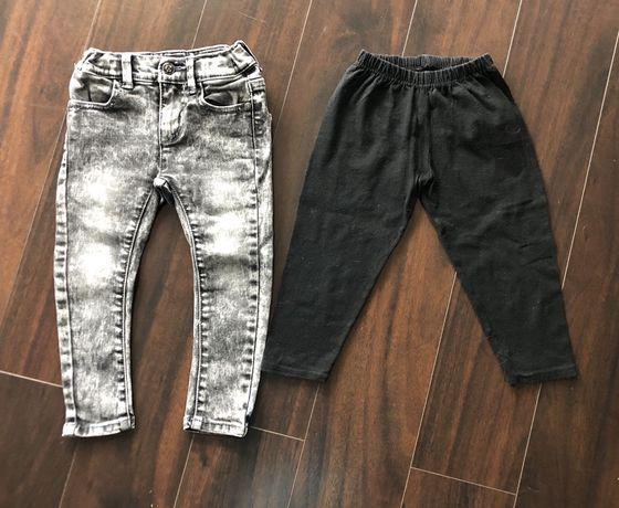 Spodnie jeans + getry r. 92