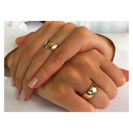PARA Okazałych Złotych Obrączek Ślubnych