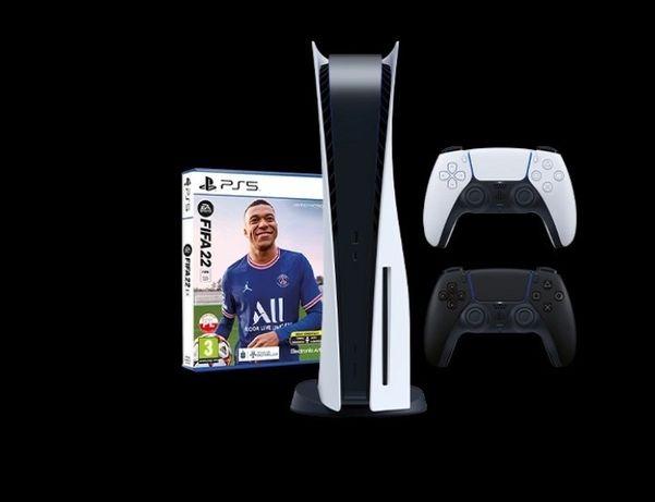 PlayStation 5 plus dwa pady , FIFA 2022 subskrypcja Ps na mjesiac