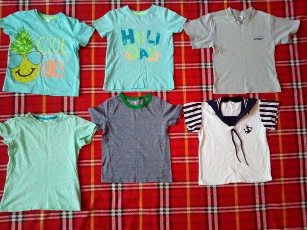 koszulki chłopięce rozmiar 98 (7 sztuk)