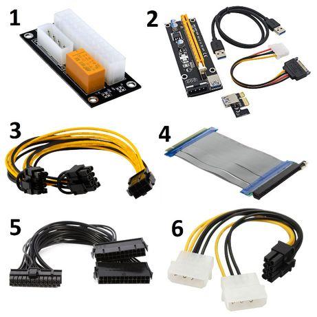 Kit Riser PCI-E 16X USB 3.0 / Add2PSU / Cabos PSU