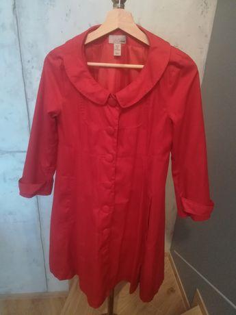 Czerwony płaszcz H&M rozm. M