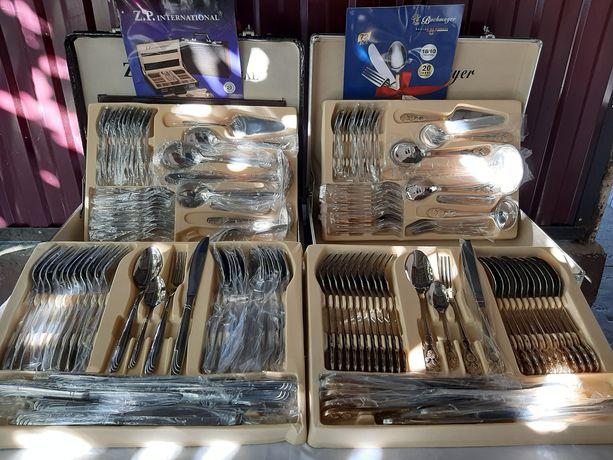 Набор столових пре  на 72шт 12 персон в чемодане ест золото и серебро