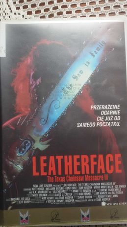 Leatherface - The Texas Chinsaw Massacre III - KASETA VHS horror