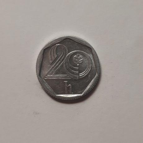 Zabytkowa moneta 20 halerzy (Czechy, 1997)
