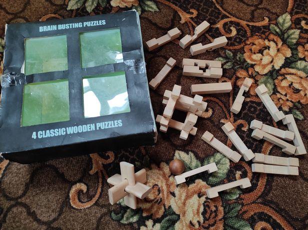 3д пазли дерев'яні puzzle wooden 3D головоломка