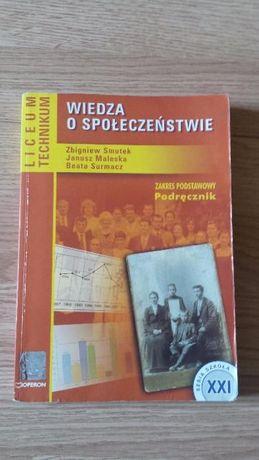 Wiedza o społeczeństwie; podręcznik dla liceum i technikum
