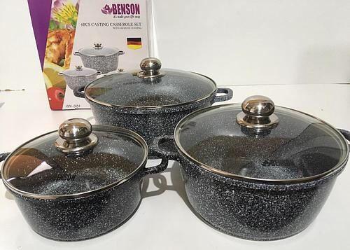 Набор посуды набор кастрюль 6 предметов с ГРАНИТНЫМ покрытием.