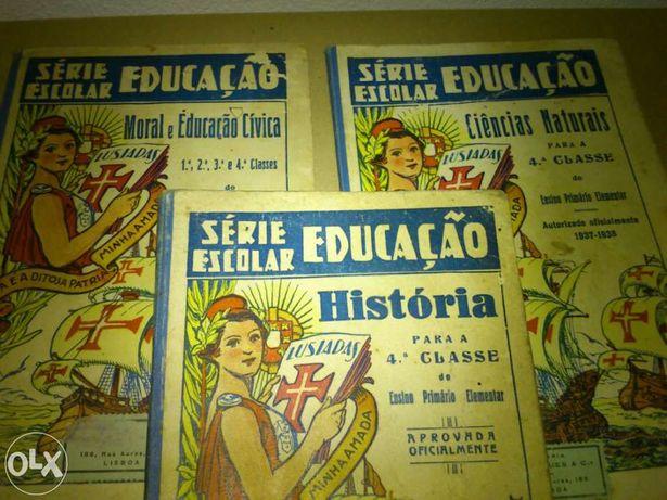 Conjunto Livros da 4.ªclasse 1938/39