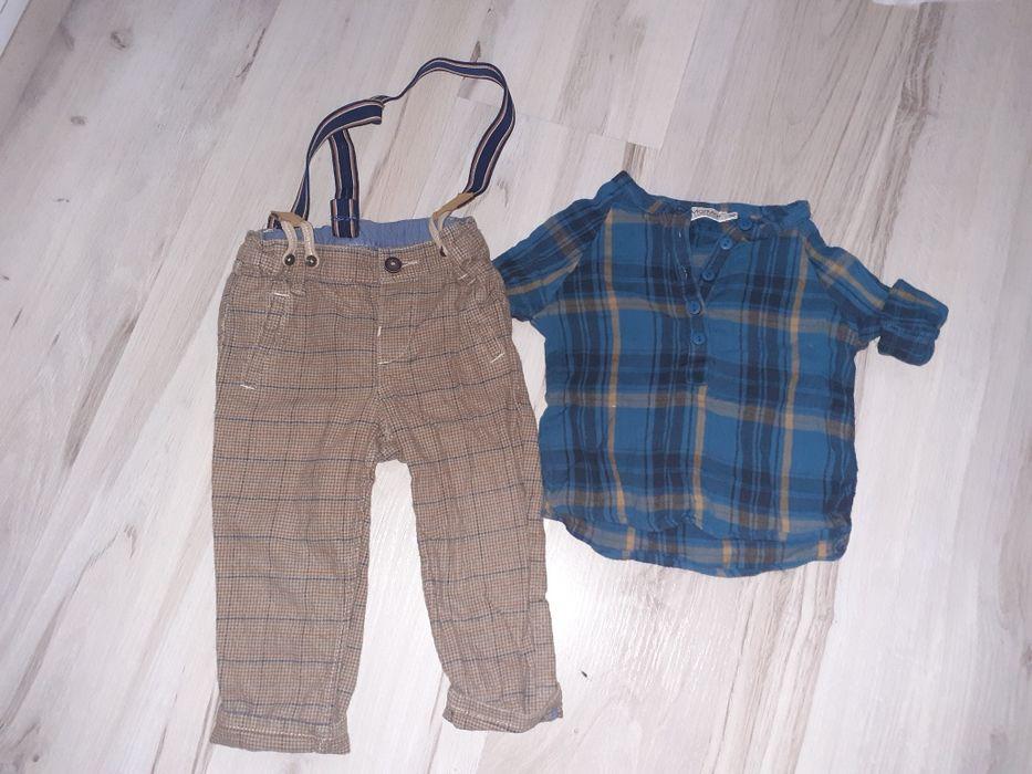 Zestaw elegancki spodnie na szelkach koszula Kargowa - image 1