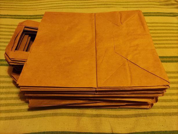 Eko papierowe torby 59 sztuk z recyklingu