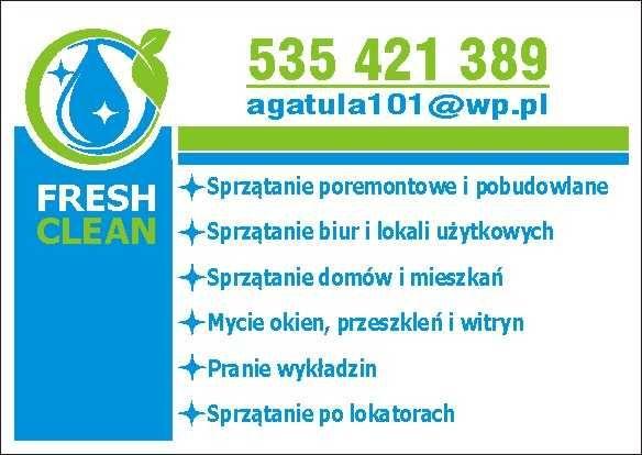 PROFESJONALNE SPRZĄTANIE-firmy ,domy,spółdzielnie ,sklepy FRESH CLEAN