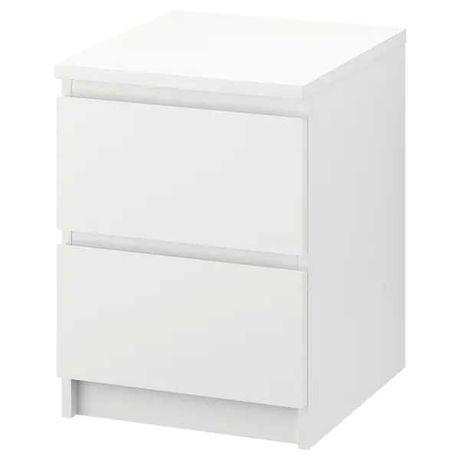 Szafki nocne białe IKEA MALM 2 szt
