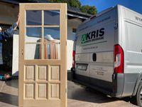 Drzwi zewnętrzne drewniane sosnowe do domku letniskowego OD RĘKI